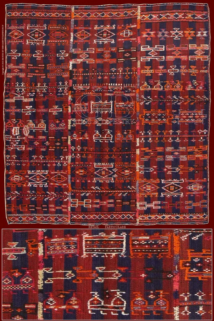 Verneh kilimcm 158 x 143, they are originally slightly ruled fabrics destined to manifold functions: covers, mantles, carpets...
