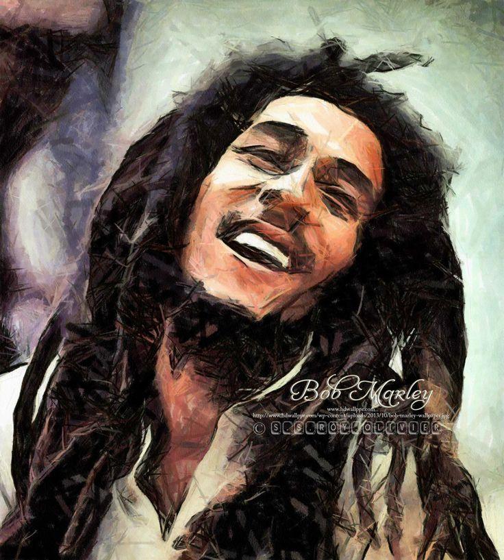 ...   Bob Marley   Digital Art   Painting   ....