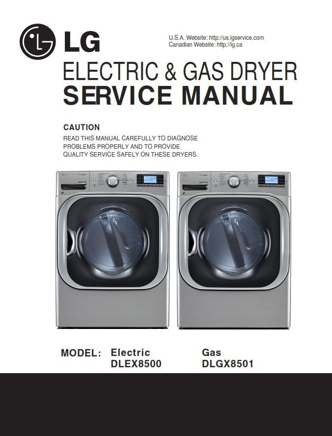 Lg Dlex8500v Dlex8500w Dryer Service Manual And Technical Troubleshooting Appliance Repair Shop Repair Guide Appliance Repair