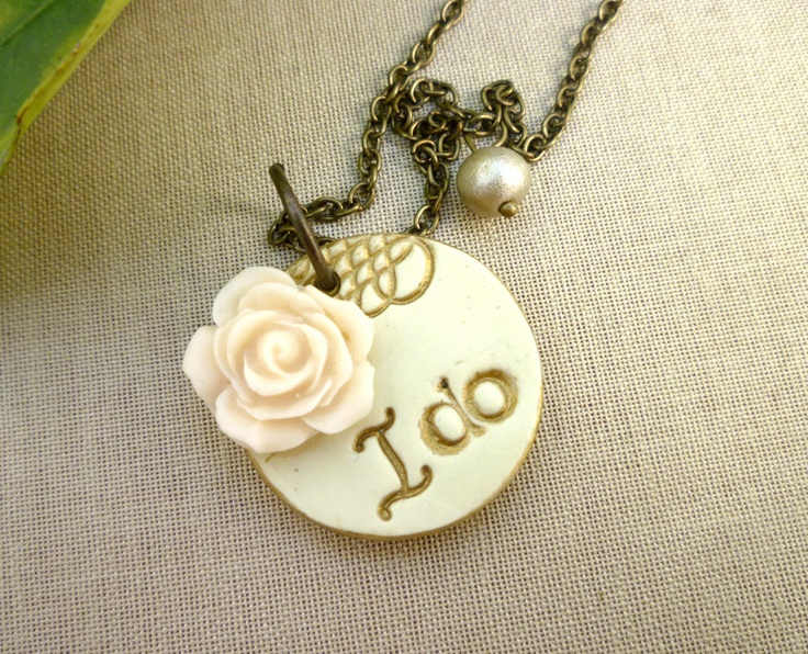 I+Do+Necklace++Whimsical+Bridal+Jewelry+by+Palomaria+on+Etsy,+$30.00
