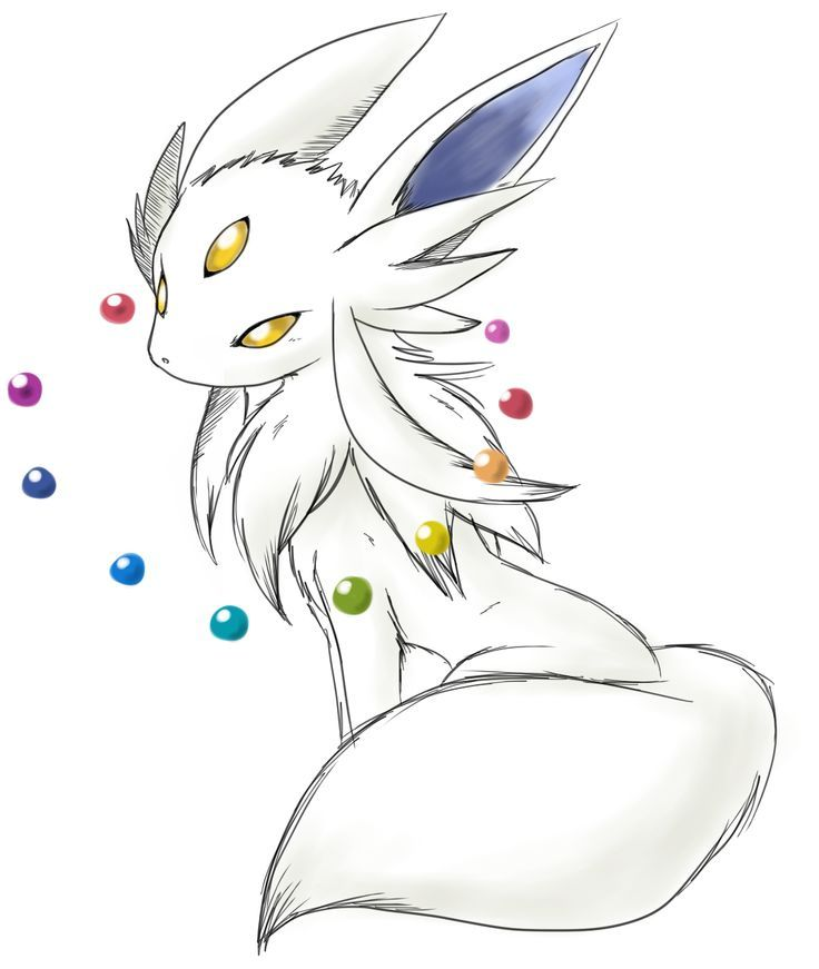 This should be Eevee's evolution. If you level an Eevee long enough without changing it...: