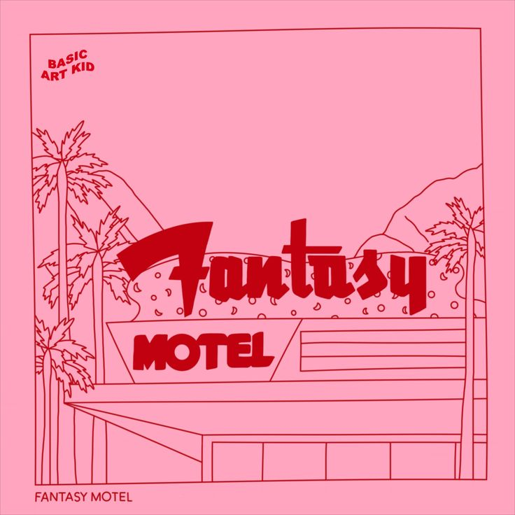Fantasy Motel Aesthetic Minimal Line 14x14cm Art Prints (6
