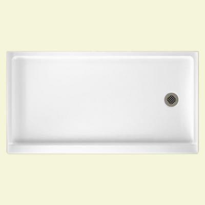 swan 32 in x 60 in fiberglass single threshold retrofit rightdrain shower