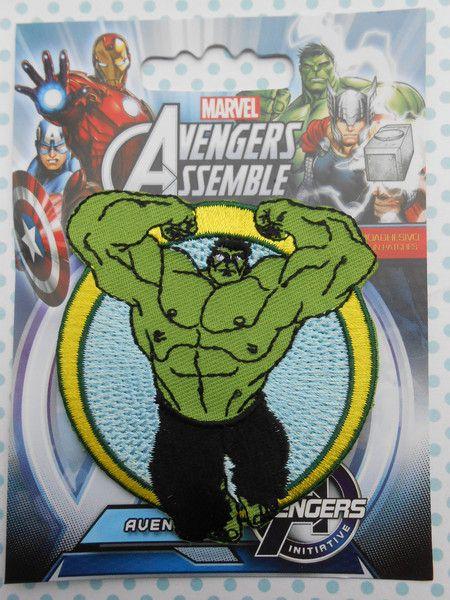 Toppe termoadesive -  Toppe Termoadesive Ricamate Incredibile Hulk - un prodotto unico di raffasupplies su DaWanda