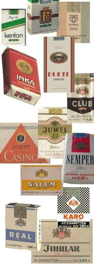 Die bekanntesten Zigarettensorten in der DDR Zur jeder Sorte gab es einen dummen Spruch!! Wer kennt sie noch ??