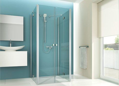barrierefreie Falttür Dusche zum Wegfalten Eine sehr