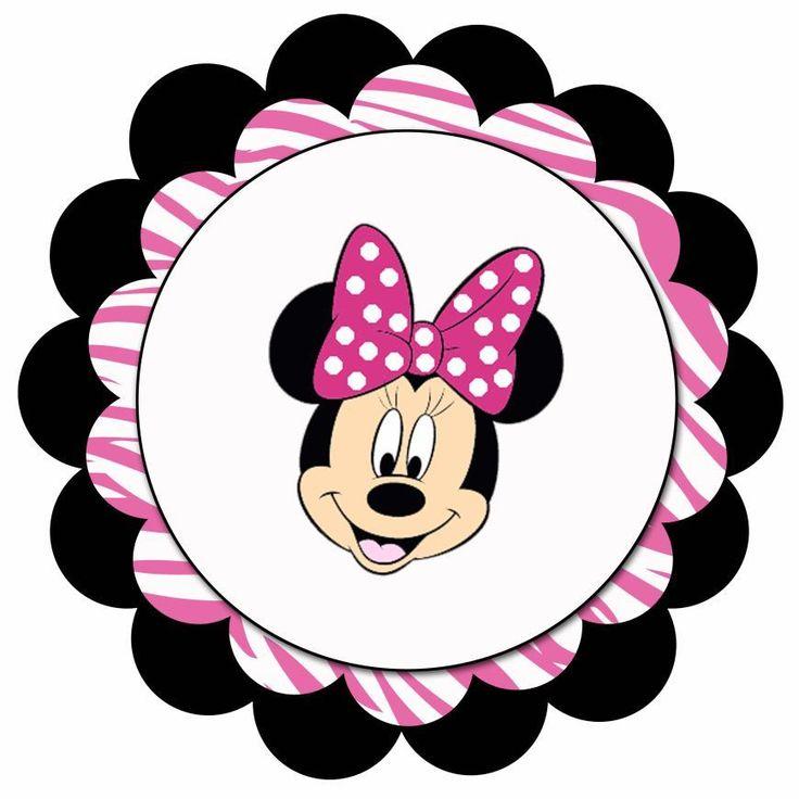 Scallop Circle Minnie Blank - 4500x4500px