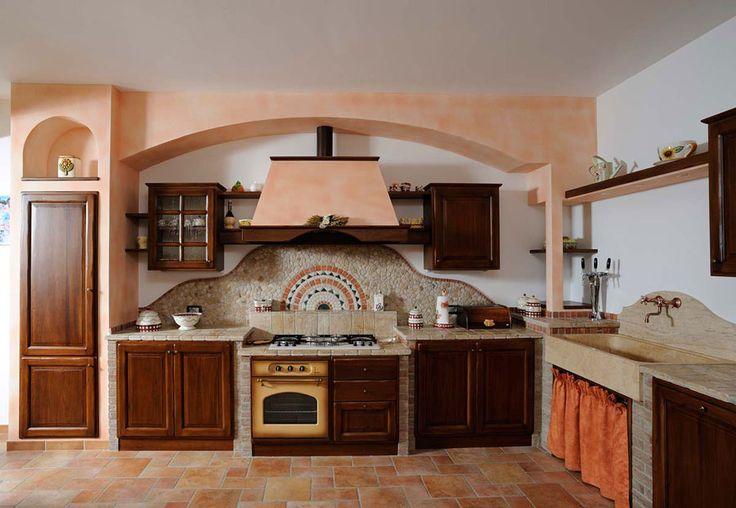 Cucina in muratura rustica n.15