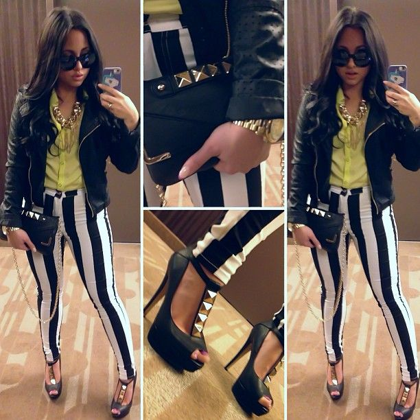 Olivia's OOTD: shirt & jacket from Forever21, pants from Expo2000, shoes & clutch from Aldo. #Jerseylicious
