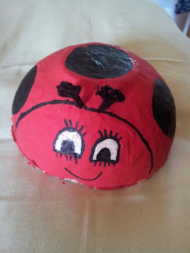 Paper Maché lady bug