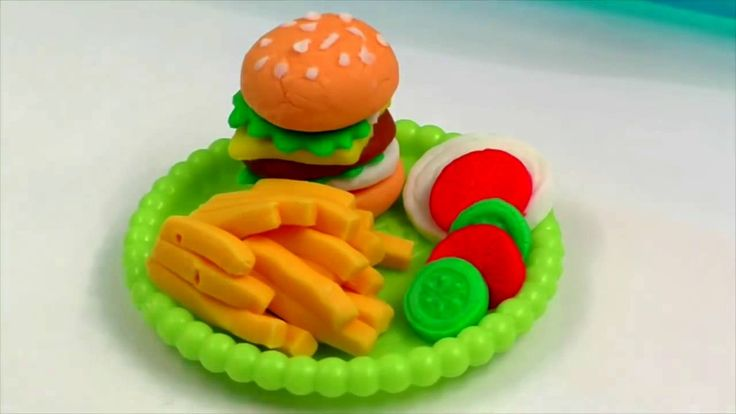 Play Doh Burger Hamburger Baby Cooking Toys Baby Kitchen Play Doh Playse...