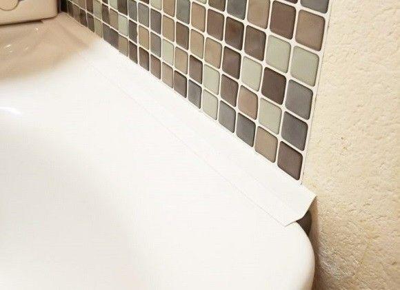 洗面台隙間埋める防水コーナーテープ 洗面台 お掃除 掃除