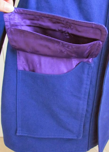 Denim Skirts and Other Stuff: Tutorial: Lined bellows pocket with flap
