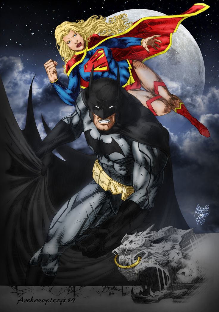 Batman And Supergirl By Archaeopteryx14 Deviantart Com On