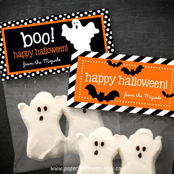 Halloween Treat Bag Topper  DIY Printable  Bats by PaperFoxDesign