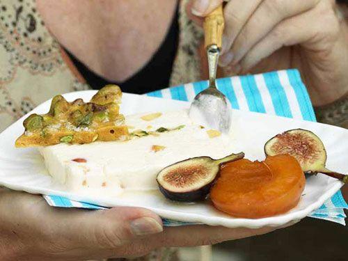 Apricot-Yogurt Semifreddo with Salted Pistachio Brittle Recipe ...
