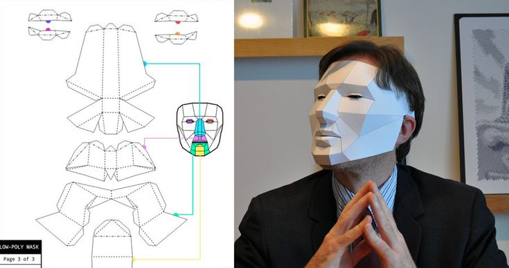 Low-poly mask, a papercraft mask for Halloween - Boing Boing  http://boingboing.net/2012/10/11/low-poly-mask-a-papercraft-ma.html