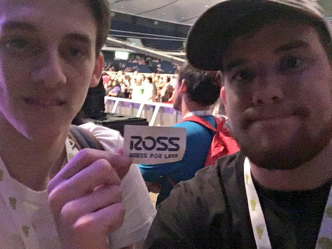 Matt watson and Ryan Magee hanging out at concert with Ross #supermega