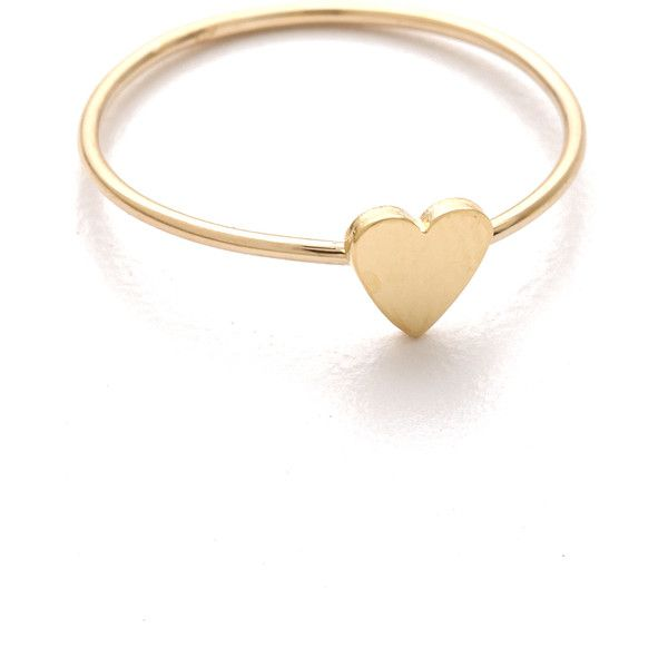 Jennifer Meyer Jewelry Mini Heart Ring (100 BHD) ❤ liked on Polyvore featuring jewelry, rings, accessories, bracelets, anillos, gold, heart shaped rings, yellow gold rings, 18k gold charms and 18k yellow gold ring
