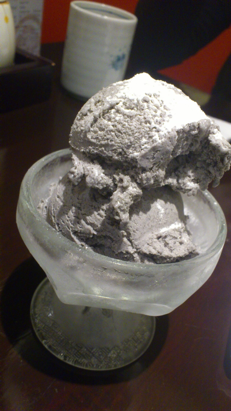 Black Sesame Ice-Cream, Gion Japanese Restaurant, Parnell, Auckland, New Zealand