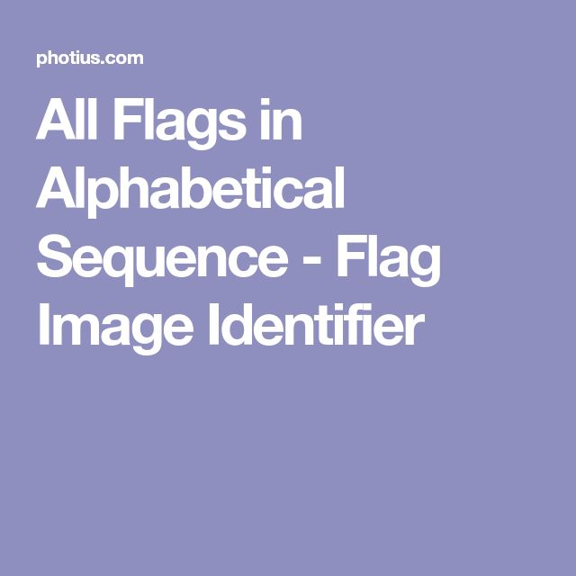 All Flags in Alphabetical Sequence - Flag Image Identifier