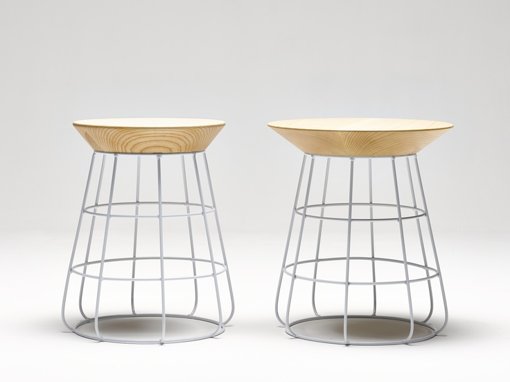Available in a number of colours, with a natural or black stain wood top, the Sidekick comes in a stool size as well as a side table.   Appropriate for commercial use.   Stool: 450mm high x 330 mm seat diameter Side table: 450mm high x 400 mm top diameter  For further information please email jemma@oneroundcircle.com