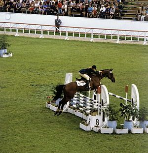 Team bronze medalist Anna Casagrande of Italy in the eventing competition