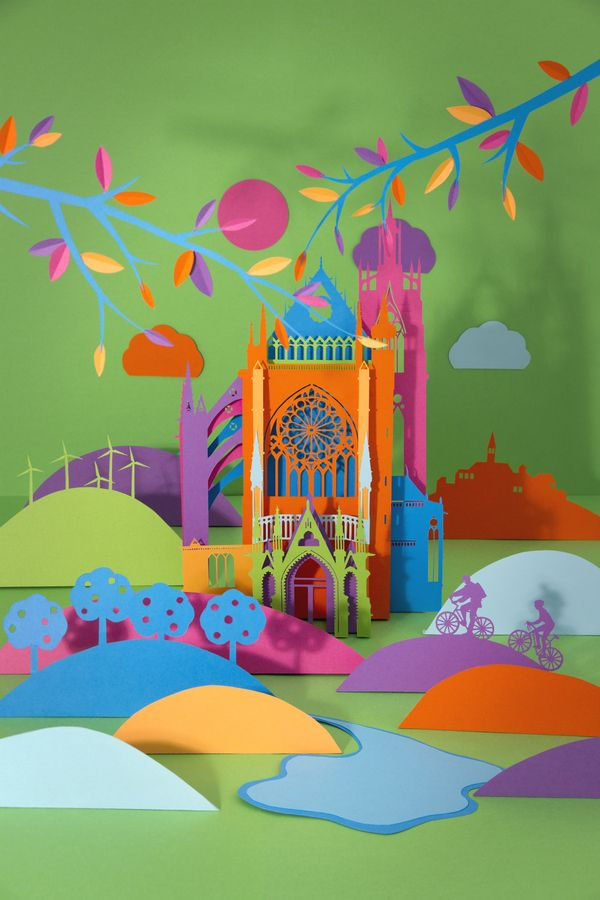 Various Paper Works by Zim And Zou , via Behance