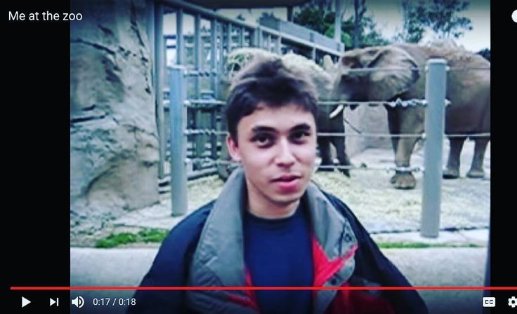 #jawedkarim published the first #youtube #video called Me at the Zoo on April 23 2005. He is also the co-founder of YouTube.  #internethistory #internetlife #videos #youtuber #videoplatform #firstyoutubevideo