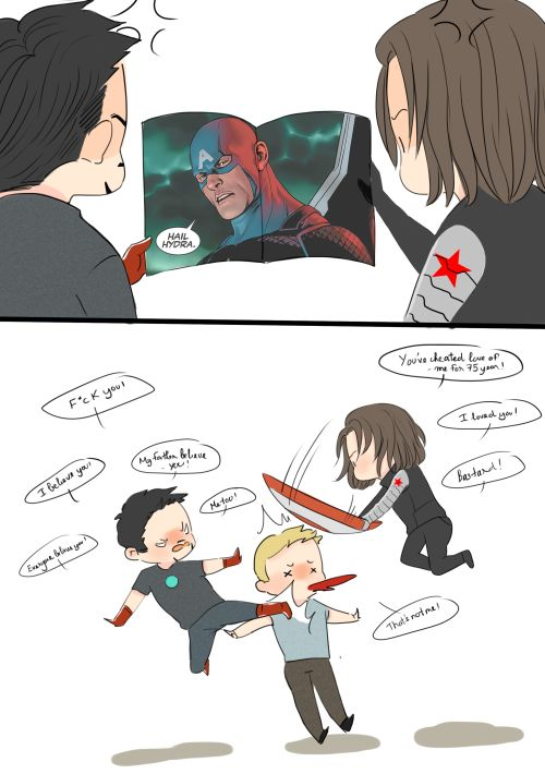 http://reichanminh.tumblr.com/post/145209612671/when-tony-and-bucky-knows-steve-is-a-member-of-the