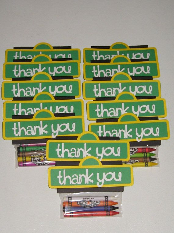 Sesame Street Crayon Party Favors / Goody Bags by thepapercubby, $20.00