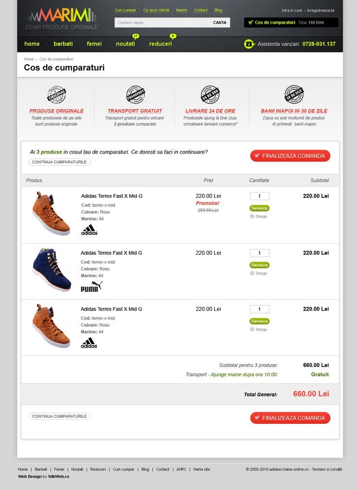 layout pas 1 cod de cumparaturi magazin online marimi.ro