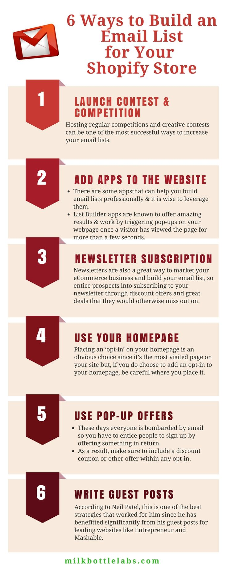 how do you get people to 'opt-in' to an #emaillist  that will deliver #news and #updates related to your #store? Here are 6 great ways: