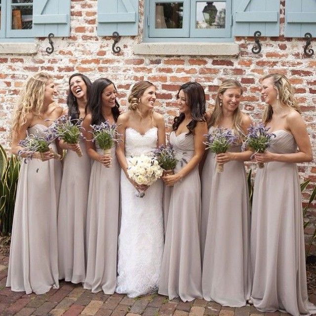 Cheap 2015 Silver Chiffon Bridesmaid Dress A Line Off The Shoulder Wedding Party Gowns Robe Demoiselle D'Honneur B53