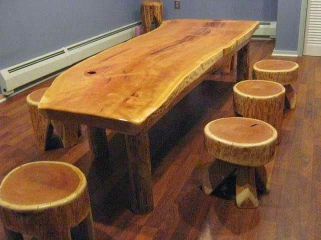 M s de 1000 ideas sobre mesa de tronco de rbol en for Mesa tronco