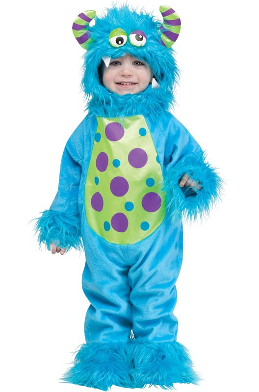 lil monster infant costume blue - Halloween Costume Monster