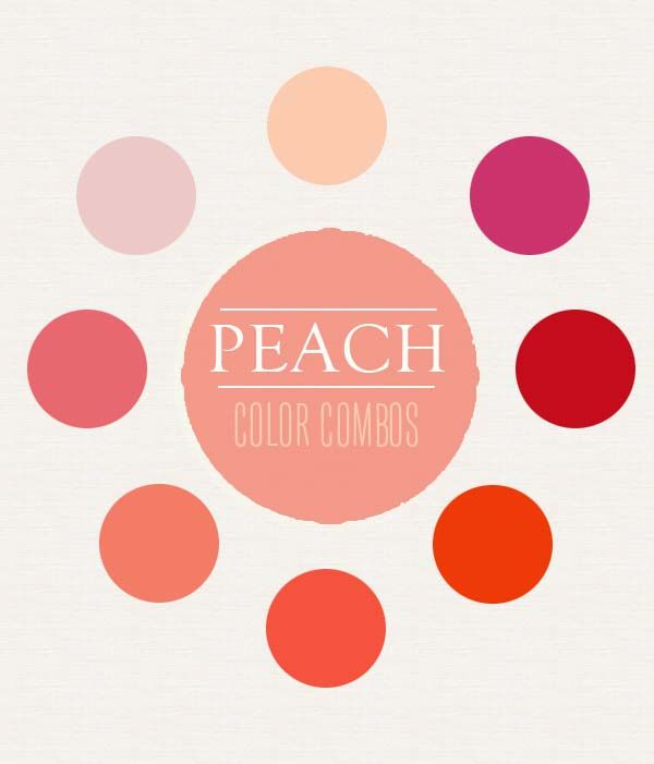 Peach Color Combination Inspiration #pastels #peach- wall color combos