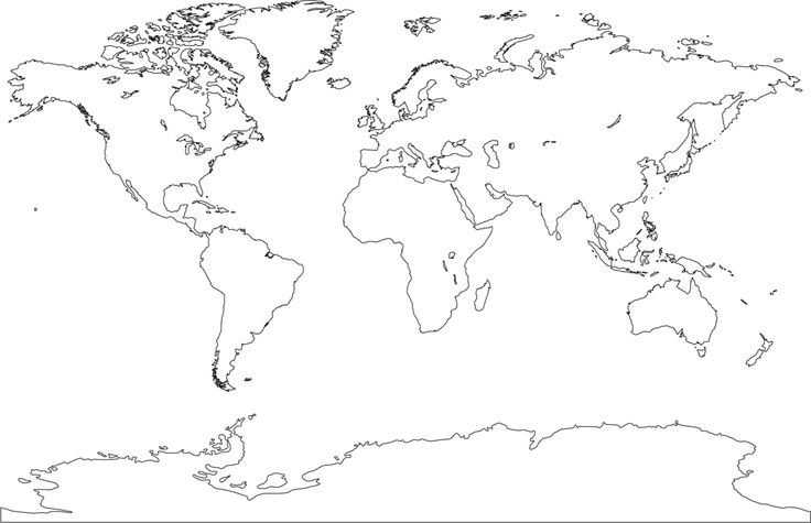 World Europe and Africa centered  free map, free blank map, free - copy world map vector graphic