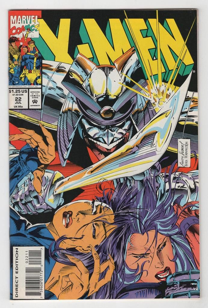 X Men 22 Regular Andy Kubert Cover 1993 Comics Dragon Comic Marvel Comic Books