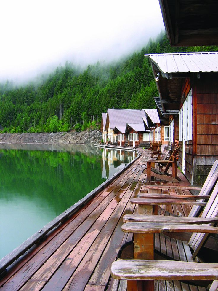 Ross Lake Resort has amazing floating cabins - a must-go