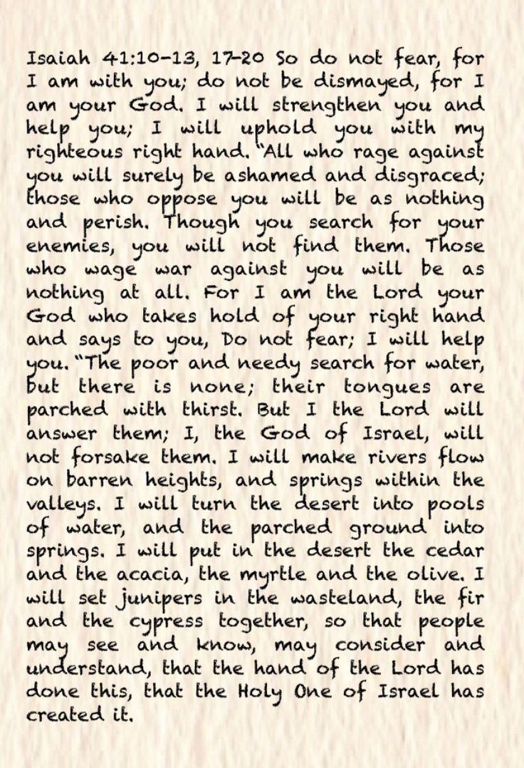 Isaiah 41:10-13, 17-20
