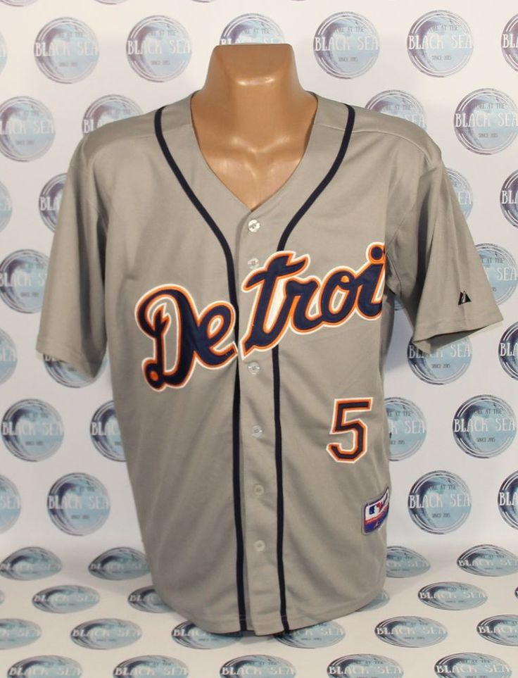 DETROIT TIGERS BASEBALL SHIRT JERSEY MLB MAJESTIC AUTHENTIC #Majestic #DetroitTigers