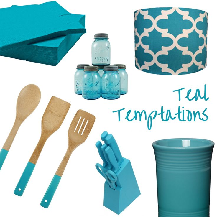 If you have a smaller kitchen, or feel a little overawed by the intensity of Farrow & Ball's Vardo, an injection of teal accessories can add a new lease of life to your kitchen and keep it feeling fresh for spring. Include some worktop accessories that banish the greys of winter and embrace the decorative charm of teal!