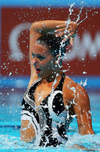 Reem Wail of Egypt competes in the of the Synchronized Swimming Solo Technical preliminary round on day one of the 15th FINA World Championships at Palau Sant Jordi on July 20, 2013 in Barcelona, Spain.