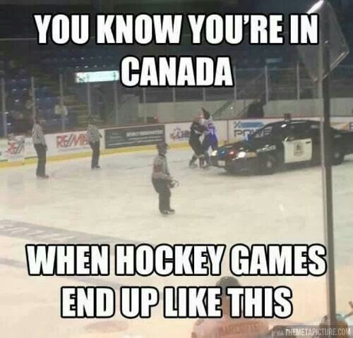 My bruiser attitude in hockey is nothing compared to some other Canadians (or how bad I used to be... lol) I will neither confirm or deny that I was involved in a fistfight in the stands before hahahaha (I will confirm that I won, though lol)