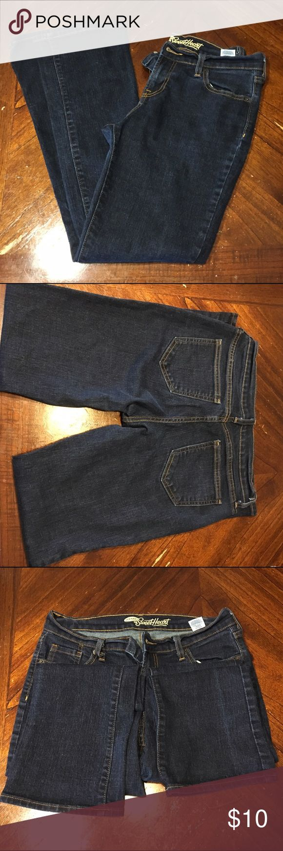 Old Navy The Sweetheart jeans Like new, worn once, hems are intact. 8 inches from button to crotch, inseam 28.5 inches, boot cut Old Navy Jeans Boot Cut