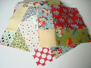 Used this tutorial for Z's Christmas quilt. SUPER easy, especially using charm packs.