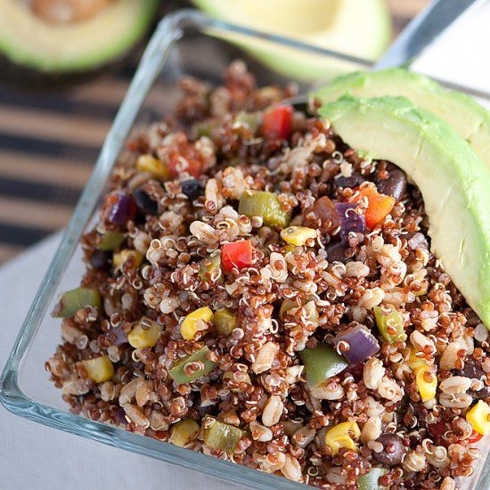 Copycat BJ's Restaurant and Brewhouse bistro grains side dish!  Healthy and delicious!