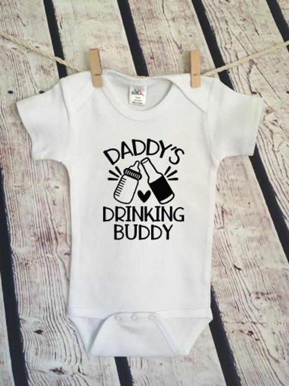 70b9452aa Daddy's Drinking Buddy Drunk Uncle Aunt newborn millennial Newborn  inappropriate Cute Funny Adorable Baby Onesie Snarky Gift Free Shipping