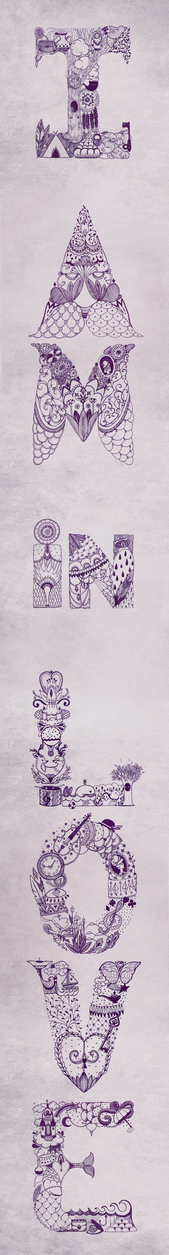 typo-drawing by Ei Ka